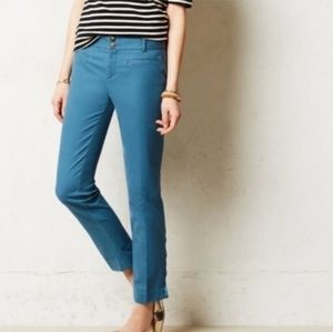 ANTHRO CARTONNIER Blue Charlie Ankle Pants 2